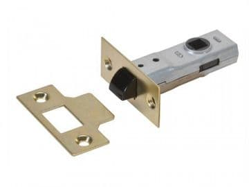 Y2600 Tubular Latch Essentials Polished Brass 65mm 2.5in Visi